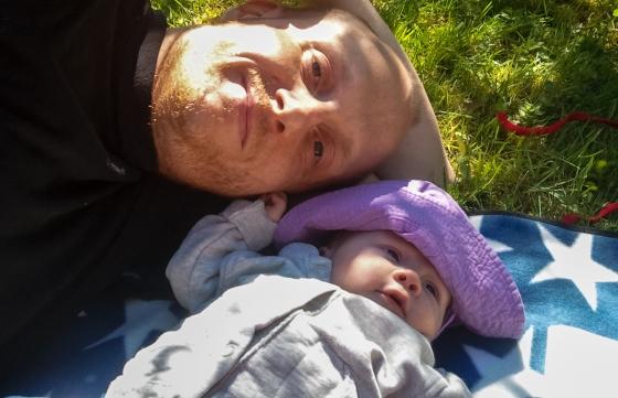 Jag och Angela på picnic i det gröna