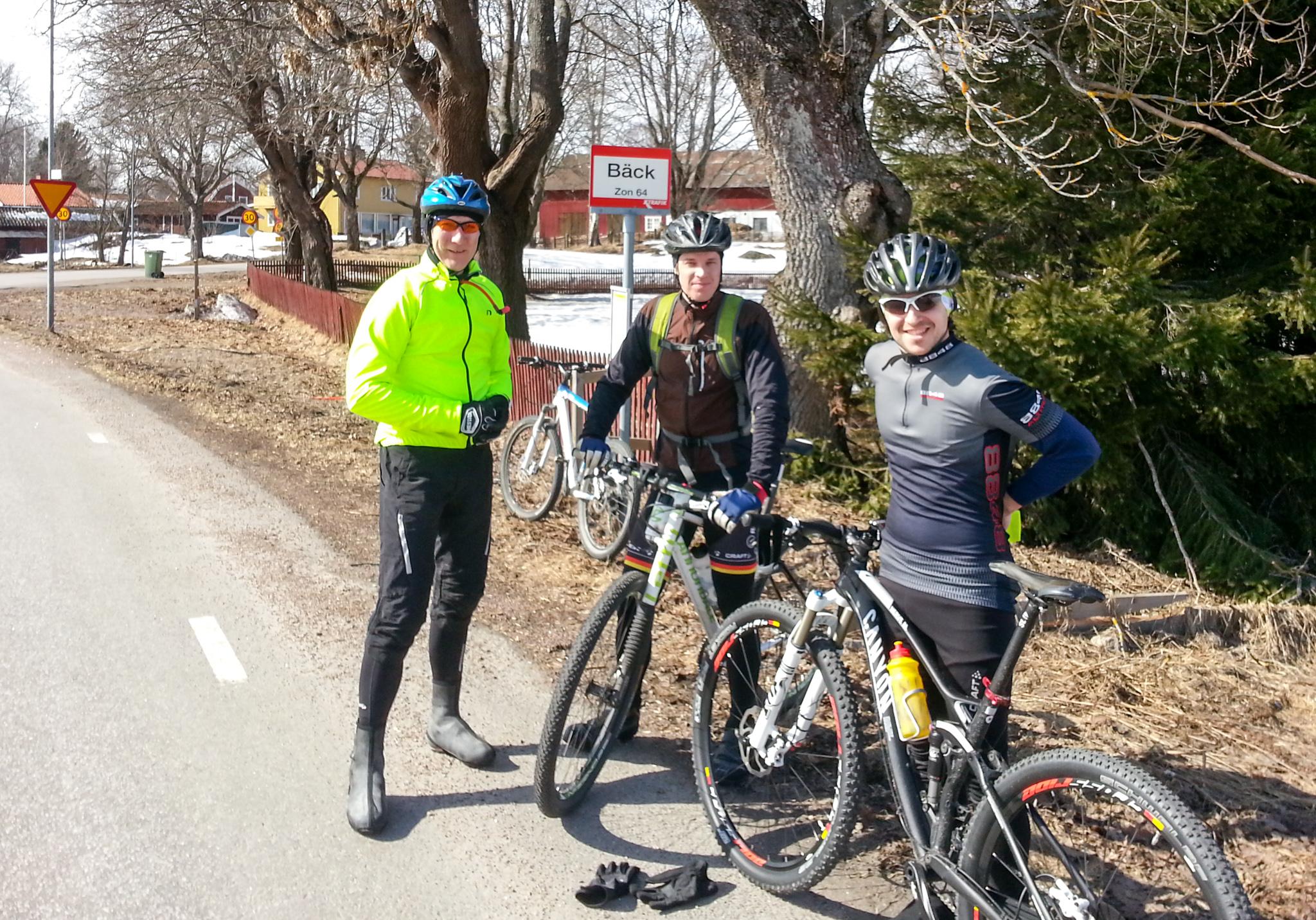 Delar av dagens träningssällskap (Crille, Johan, Pär)